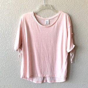 EXIST Light Pink Distressed Short Sleeve T-Shirt
